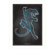 Chalk Board Tattoos - Panther Art Print
