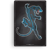 Chalk Board Tattoos - Panther Canvas Print