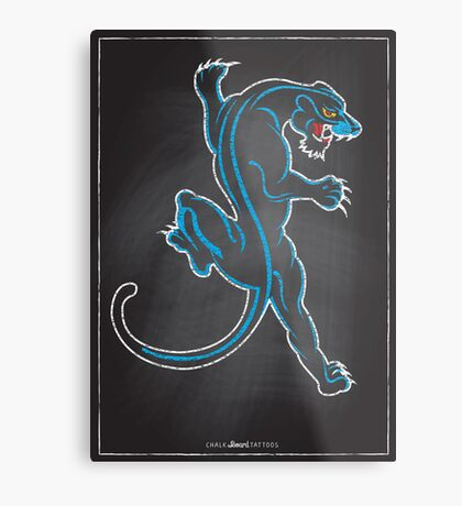 Chalk Board Tattoos - Panther Metal Print