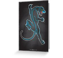 Chalk Board Tattoos - Panther Greeting Card