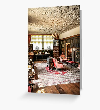 Stately Home Living Room Greeting Card