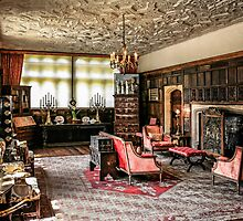 English Tudor Stately Home Living Room by Chris L Smith