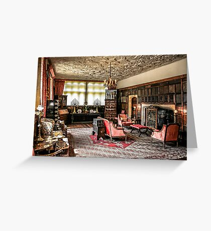 English Tudor Stately Home Living Room Greeting Card