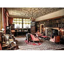 English Tudor Stately Home Living Room Photographic Print