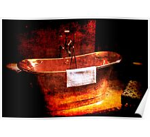 Copper Rolled-top bath tub Poster
