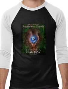 Hold the Earth in Your Hands Men's Baseball ¾ T-Shirt
