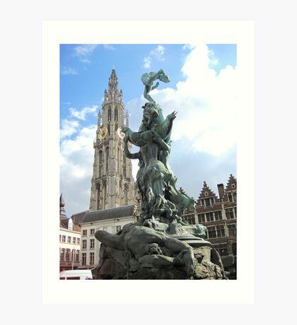 Icons of Antwerp, Belgium Art Print