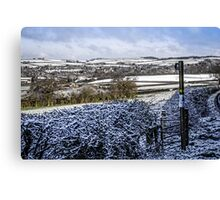 Wintertime in Dorset Canvas Print
