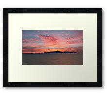 Dawn over the Isle of May Framed Print