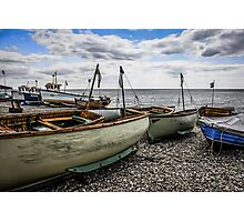 Beached Boats at Beer Photographic Print