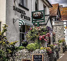 Village of Beer Pub in Devon England by Chris L Smith