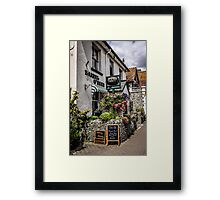 Village of Beer Pub in Devon England Framed Print