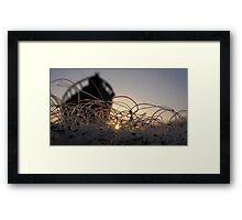 Fish nets at dawn... Framed Print