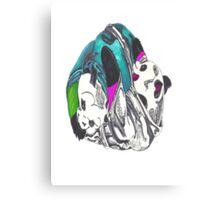 Pandas keep it playful Canvas Print
