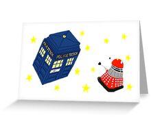 Doctor who tardis + Dalek battle  Greeting Card