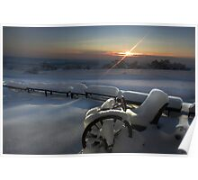 Snow Country Sunset Poster