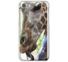 Giraffe - Feeding Time iPhone Case/Skin