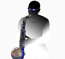 Blues Saxophone Man  Unisex T-Shirt