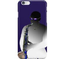 Blues Saxophone Man  iPhone Case/Skin