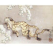 Hokusai - Winter Tiger Photographic Print