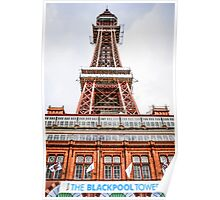 The Blackpool Tower Lancashire Poster