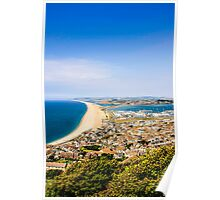 Chesil Beach Aerial Panorama Poster