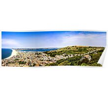 Chesil Beach Panoramic Poster