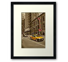 Chicago Taxi  Framed Print