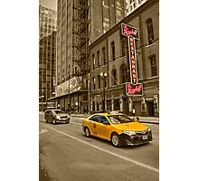Chicago Taxi  Photographic Print