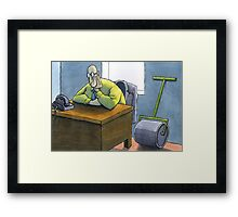 Roller waiting for work Framed Print