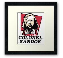 Colonel Sandor Game of Thrones Inspired T-shirt Design Framed Print
