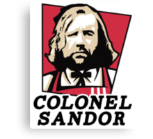 Colonel Sandor Game of Thrones Inspired T-shirt Design Canvas Print