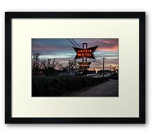 Lincoln Motel   Framed Print