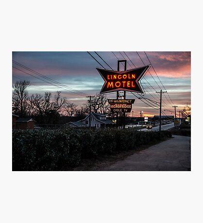 Lincoln Motel   Photographic Print