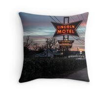 Lincoln Motel   Throw Pillow