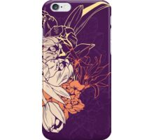 Graphic composition composed of tulips and narcissus iPhone Case/Skin