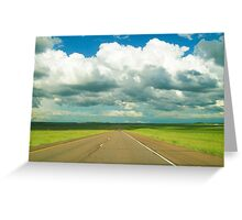 Drivin' Down the Highway Greeting Card