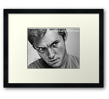 Jude Law Framed Print