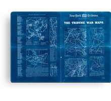 Civil War Maps 1809 The Tribune war maps Inverted Canvas Print