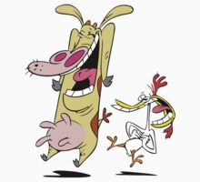 "Cow and Chicken! ""The Pair"" Cartoon T-Shirt by artkrannie"