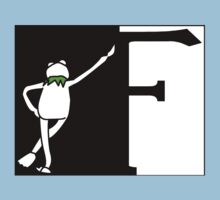 F is for Frog Black and White. Kids Tee