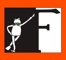 F is for Frog Black and White. Kids Clothes