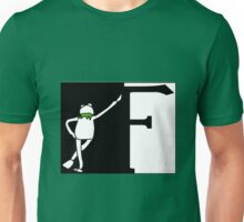 F is for Frog Black and White. Unisex T-Shirt