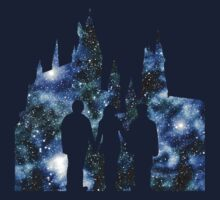 Hogwarts Silhouette Blue. by Tillybo