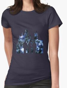 Hogwarts Silhouette Blue. Womens Fitted T-Shirt