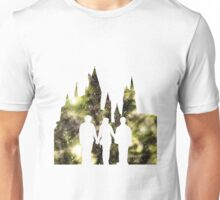 Hogwarts Silhouette Yellow. Unisex T-Shirt