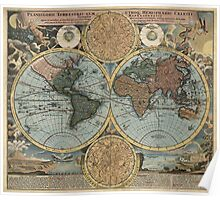 Antique Map of the World from c1716 Poster