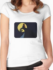 Nightmare at the Acre Wood. Women's Fitted Scoop T-Shirt