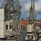 Cranes at Bristol Docks by RedHillDigital