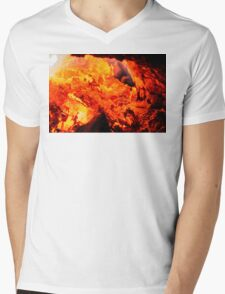 FIRE IN THE HOLE Mens V-Neck T-Shirt